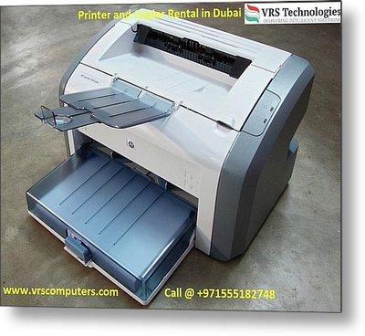 Hire A Printer - It Rentals Metal Print by Vrscomputers