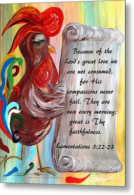 His Compassions Are New Every Morning Metal Print by Eloise Schneider