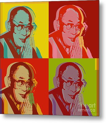 His Holiness The Dalai Lama Of Tibet Metal Print by Jean luc Comperat
