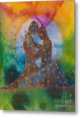 His Loves Embrace Divine Love Series No. 1007 Metal Print