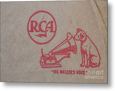 Metal Print featuring the photograph His Masters Voice Rca by Edward Fielding