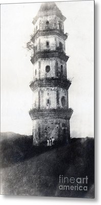 Historic Asian Tower Building Metal Print by Jorgo Photography - Wall Art Gallery