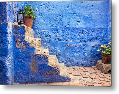 Historic Blue Stairs Metal Print by Jess Kraft