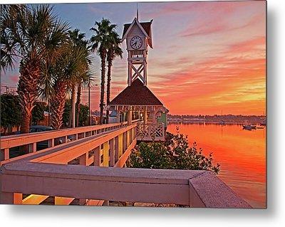 Historic Bridge Street Pier Sunrise Metal Print