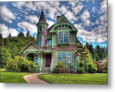Historic Castle In Drain Oregon Metal Print by Tyra  OBryant