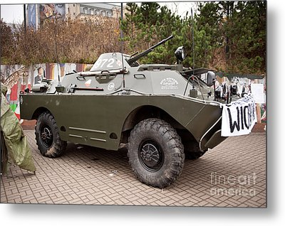 Historic Combat Vehicle Martial Law Metal Print by Arletta Cwalina