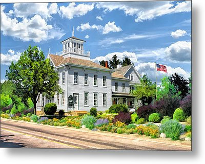 Historic Cupola House In Egg Harbor Door County Metal Print by Christopher Arndt