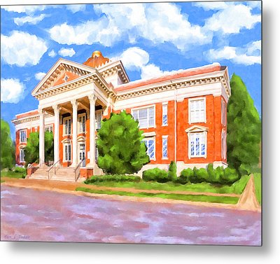 Metal Print featuring the painting Historic Georgia Southwestern - Americus by Mark Tisdale