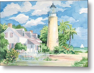 Historic Key West Lighthouse Metal Print by Paul Brent