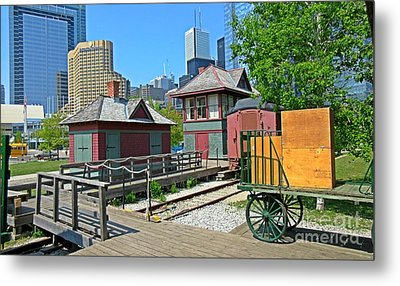 Historic Railway Site In Toronto Metal Print by John Malone