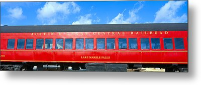 Historic Red Passenger Car, Austin & Metal Print by Panoramic Images