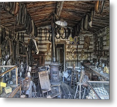 Historic Saddlery Shop - Montana Territory Metal Print by Daniel Hagerman