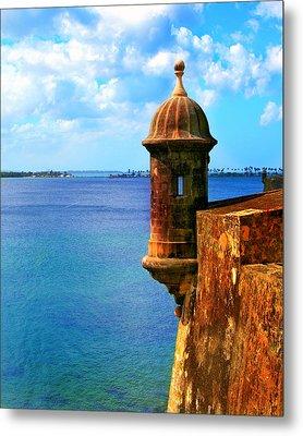 Historic San Juan Fort Metal Print by Perry Webster