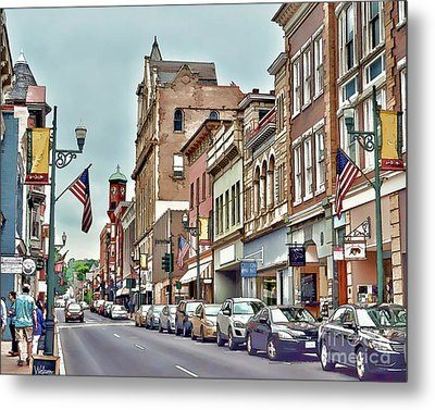 Metal Print featuring the photograph Historic Staunton Virginia - Art Of The Small Town  by Kerri Farley