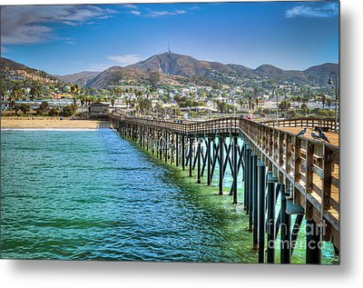 Historic Ventura Wood Pier Metal Print by David Zanzinger