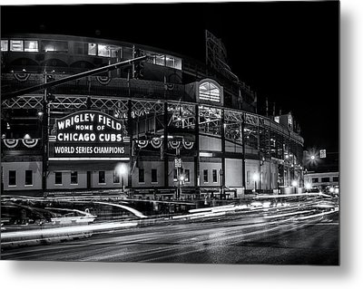 Historic Wrigley Field Metal Print by Andrew Soundarajan
