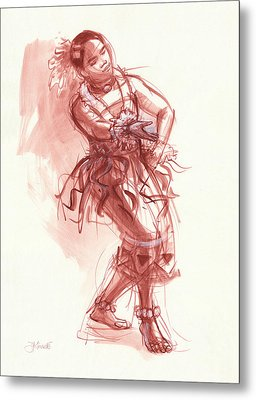 Hiva, Dancer Of Tonga Metal Print by Judith Kunzle