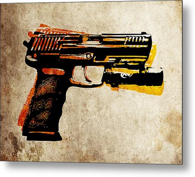 Hk 45 Pistol Metal Print by Michael Tompsett