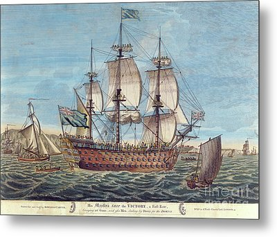 Hms Victory Metal Print by English School