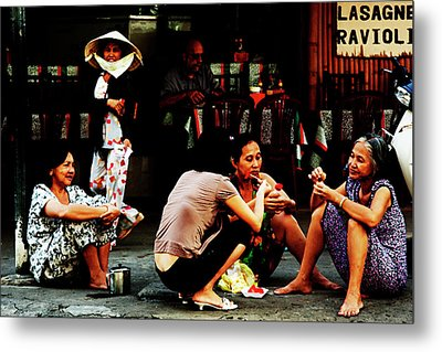 Ho Chi Minh. The Luncheon On The Asphalt Metal Print by Alex Volgin