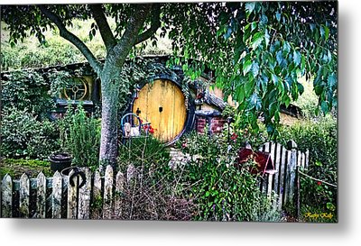 Metal Print featuring the photograph Hobbit Bungalow by Kathy Kelly