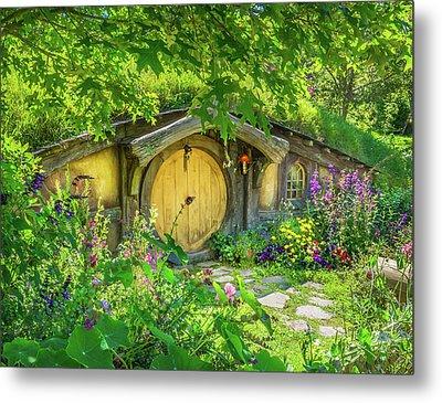 Hobbit Cottage Metal Print
