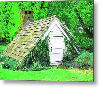 Metal Print featuring the photograph Hobbit Hut by Susan Carella