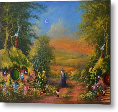 Hobbiton, Disturbing The Peace  Metal Print by Joe  Gilronan