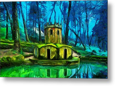 Hobbit's Castle - Da Metal Print by Leonardo Digenio