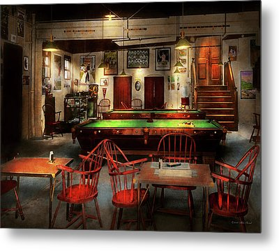 Metal Print featuring the photograph Hobby - Pool - The Billiards Club 1915 by Mike Savad