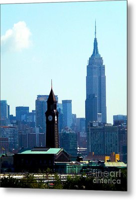 Hoboken And New York Metal Print