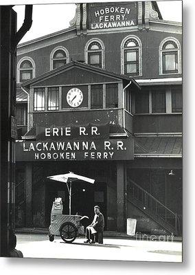 Hoboken Ferry C1966 Metal Print by Erik Falkensteen