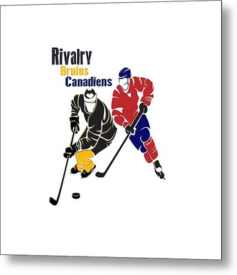 Hockey Rivalry Bruins Canadiens Shirt Metal Print by Joe Hamilton