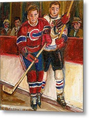 Hockey Stars At The Forum Metal Print by Carole Spandau