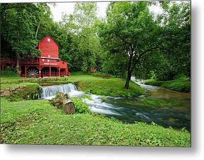 Metal Print featuring the photograph Hodgson Water Mill And Spring by Cricket Hackmann