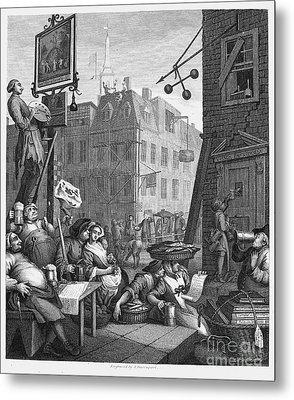 Hogarth: Beer Street Metal Print by Granger