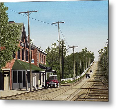 Hoggs Hollow Toronto 1920 Metal Print by Kenneth M  Kirsch
