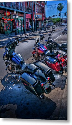 Hogs On 7th Ave Metal Print