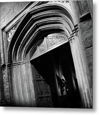 Metal Print featuring the mixed media Hogwards Door  by Gina Dsgn