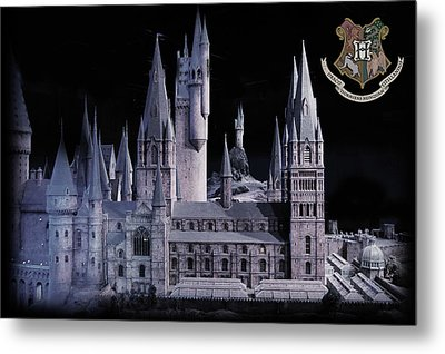 Metal Print featuring the mixed media Hogwards School  by Gina Dsgn