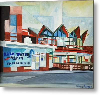 Hojo's Abstracted Metal Print by Patricia Arroyo