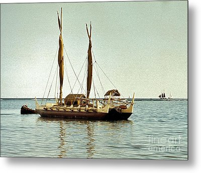 Hokulea - Voyaging Canoe Metal Print by Craig Wood