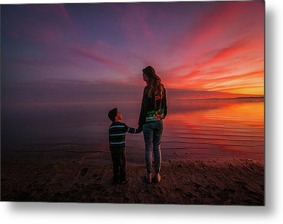 Hold My Hand Little Brother Metal Print