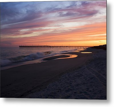 Metal Print featuring the photograph Holden Beach Pier by Alan Raasch