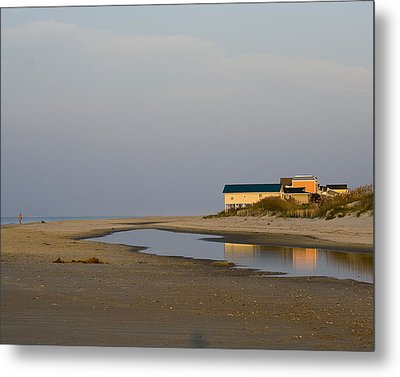 Metal Print featuring the photograph Holden Beach Reflections 1 by Alan Raasch