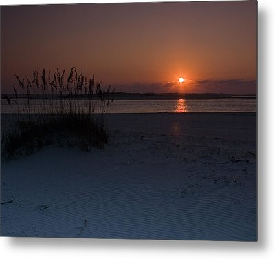 Metal Print featuring the photograph Holden Beach Sunrise 1 by Alan Raasch
