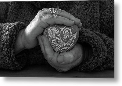 Holding My Heart In My Hands Metal Print
