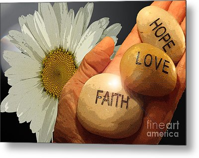 Holding The Future  Metal Print by Cathy  Beharriell