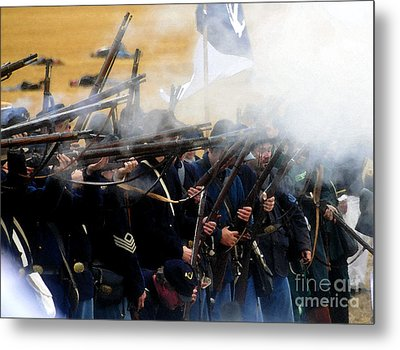 Holding The Line At Gettysburg Metal Print by David Lee Thompson