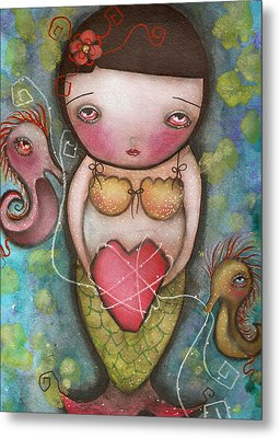 Holding Tight Metal Print by  Abril Andrade Griffith
